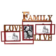Family Love Life Picture Frame with 3 Openings