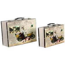 2 Piece Decorative Suitcase Set
