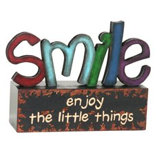 Smile Table Top Art Letter Block