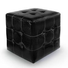 <strong>American Atelier Living</strong> Square Ottoman with Buttons