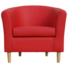 Nicole Faux Leather Tub Chair