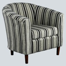 April Stripe Fabric Tub Chair