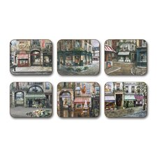 <strong>Jason Products</strong> The Village Square Assorted Coaster (Set of 6)