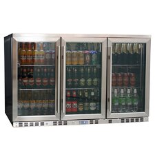 3-Door Front Venting Full Stainless Steel Bar Fridge