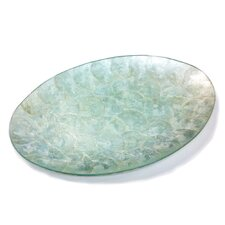 <strong>Parmy</strong> Capiz Seashell Oval Glass Plate
