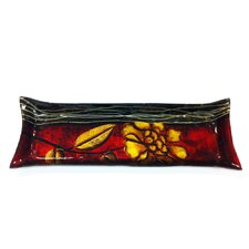 Flower Art Rectangle Glass Tray
