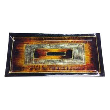 Decor Art Rectangle Glass Tray