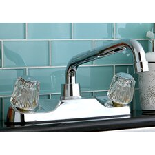 <strong>Kingston Brass</strong> Double Handle Kitchen Faucet with Spout