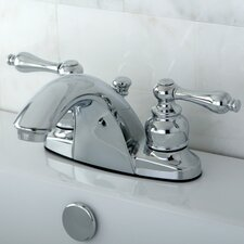 <strong>Kingston Brass</strong> English Country Double Handle Centerset Bathroom Faucet with ABS Pop-Up Drain