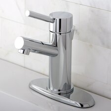 <strong>Kingston Brass</strong> Concord Single Handle Bathroom Faucet with Brass Pop-Up Drain  and Optional Deck Plate