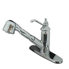 <strong>Kingston Brass</strong> Templeton Single Handle Pull-Out Spray Kitchen Faucet