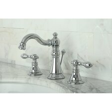 <strong>Kingston Brass</strong> American Classic Double Handle Widespread Bathroom Faucet with ABS Pop-Up Drain