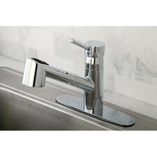 <strong>Kingston Brass</strong> Wilshire Gourmetier Single Handle Pull-Out Spray Kitchen Faucet