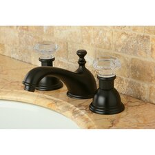 Celebrity Celebrity Double Crystal Handle Widespread Bathroom Faucet with Brass Pop-Up Drain