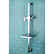 "Claremont 23.6"" Square Shower Slide Bar with Soap Dish"