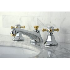 Metropolitan Double Handle Widespread Bathroom Faucet with Brass Pop-up