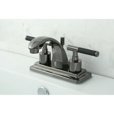 Water Onyx Double Handle Centerset Bathroom Faucet with Brass Pop Up Drain