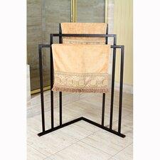 Edenscape Free Standing Corner Towel Rack
