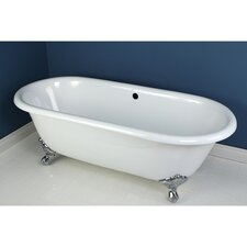 "<strong>Kingston Brass</strong> Aqua Eden 66"" x 30"" Freestanding Bathtub"