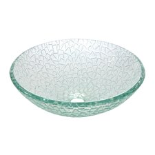 Nordica Crystal Glass Vessel Bathroom Sink