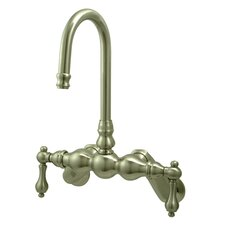 Vintage Wall Mount Clawfoot Tub Filler