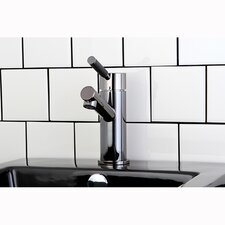 Water Onyx Single Handle Bathroom Vessel Faucet with Anti-Slide Handle Sleeve and Brass Pop-Up Drain