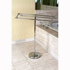 <strong>Kingston Brass</strong> Edenscape Pedestal Round Plate Towel Rack