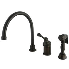 <strong>Kingston Brass</strong> Buckingham Single Handle Kitchen Faucet with Spray