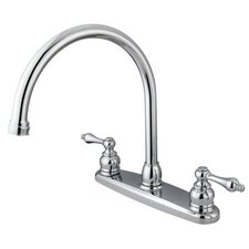 <strong>Kingston Brass</strong> Vintage Double Handle Goose Neck Kitchen Faucet