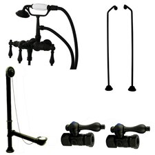 Vintage/Aqua Eden Wall Mount Down Spout Clawfoot Tub Faucet Package