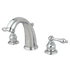 <strong>Kingston Brass</strong> Victorian Double Handle Widespread Bathroom Faucet with Brass Pop-Up Drain