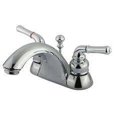 <strong>Kingston Brass</strong> Naples Double Handle Centerset Bathroom Sink Faucet with ABS/Brass Pop-Up Drain