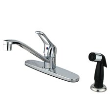 Wyndham Single Handle Kitchen Faucet with Sprayer