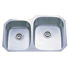 "Loft 20.5"" x 20.5"" Gourmetier Undermount Double Bowl Kitchen Sink"