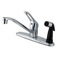 <strong>Kingston Brass</strong> Wyndham Single Handle Kitchen Faucet with Sprayer