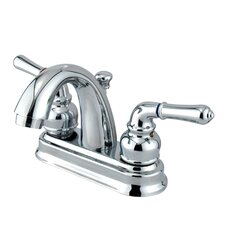 Naples Double Handle Centerset Bathroom Sink Faucet with ABS Pop-Up Drain