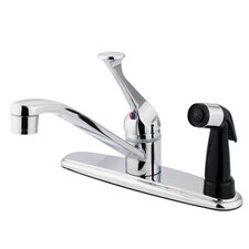 <strong>Kingston Brass</strong> Chatham Single Handle Kitchen Faucet with Sprayer