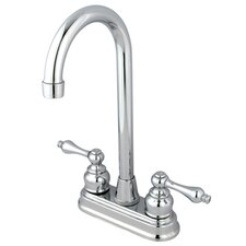 <strong>Kingston Brass</strong> Victorian Double Handle Centerset High-Arch Bar Faucet