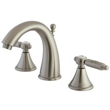 <strong>Kingston Brass</strong> Georgian Double Handle Widespread Bathroom Faucet with Brass Pop-Up Drain