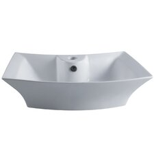 <strong>Kingston Brass</strong> Courtyard China Vessel Bathroom Sink
