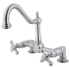 Heritage Double Handle Bridge Deck Mount Kitchen Faucet