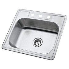 "Carefree 21.25"" x 22"" Single Bowl Self-Rimming Kitchen Sink"