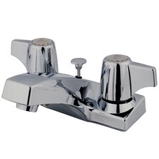 Columbia Double Handle Centerset Bathroom Faucet with Brass Pop-Up Drain