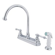 Tremont Double Handle CentersetKitchen Faucet with White Spray