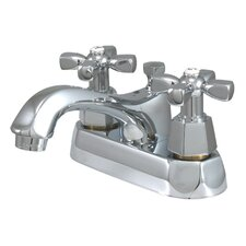 Metropolitan Double Handle Centerset Bathroom Faucet with Brass Pop-up