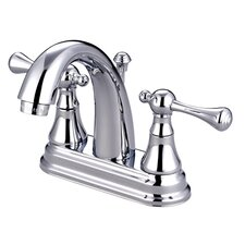 <strong>Kingston Brass</strong> English Vintage Double Handle Centerset Bathroom Faucet with Brass Pop-Up Drain