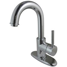 <strong>Kingston Brass</strong> Concord Single Handle Bathroom Faucet with Push-Up and Optional Deck Plate
