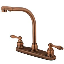 Victorian Double Handle CentersetHigh Arch Kitchen Faucet