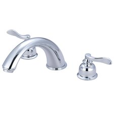 NuWave French Double Handle Roman Tub Filler