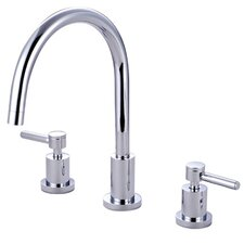 <strong>Kingston Brass</strong> Concord Double Handle Widespread Kitchen Faucet with Non-Metallic Sprayer